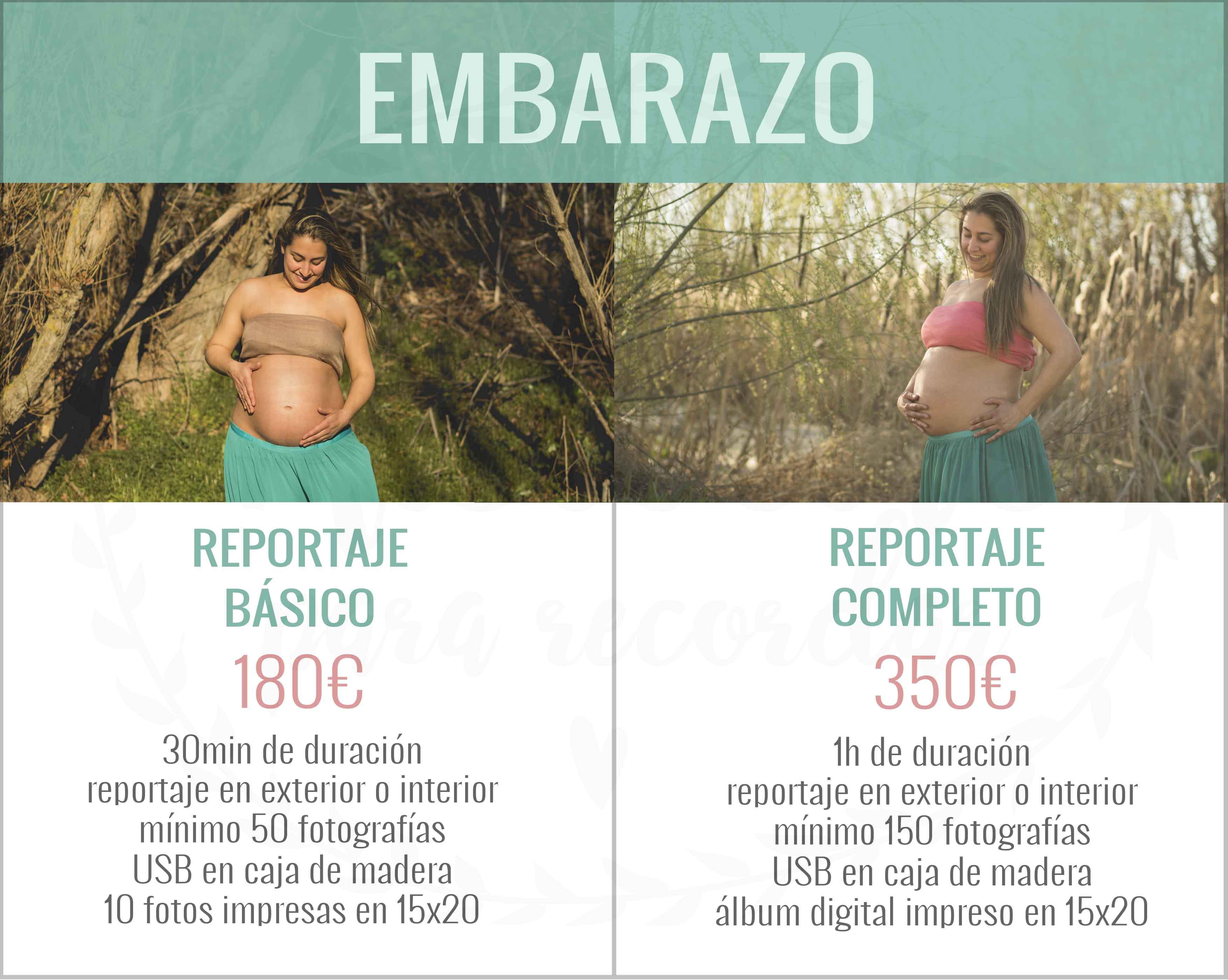 Precios sesión de fotos embarazadas en León