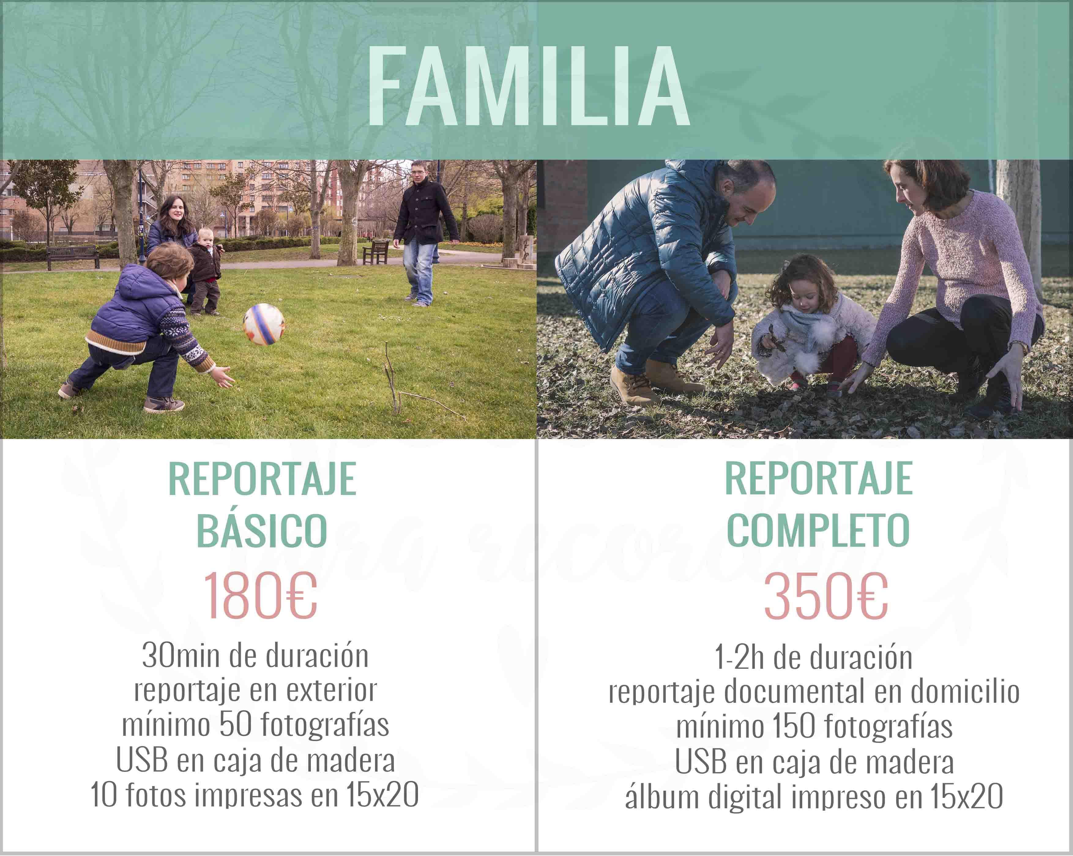Precios Sesión de fotos de familia en León