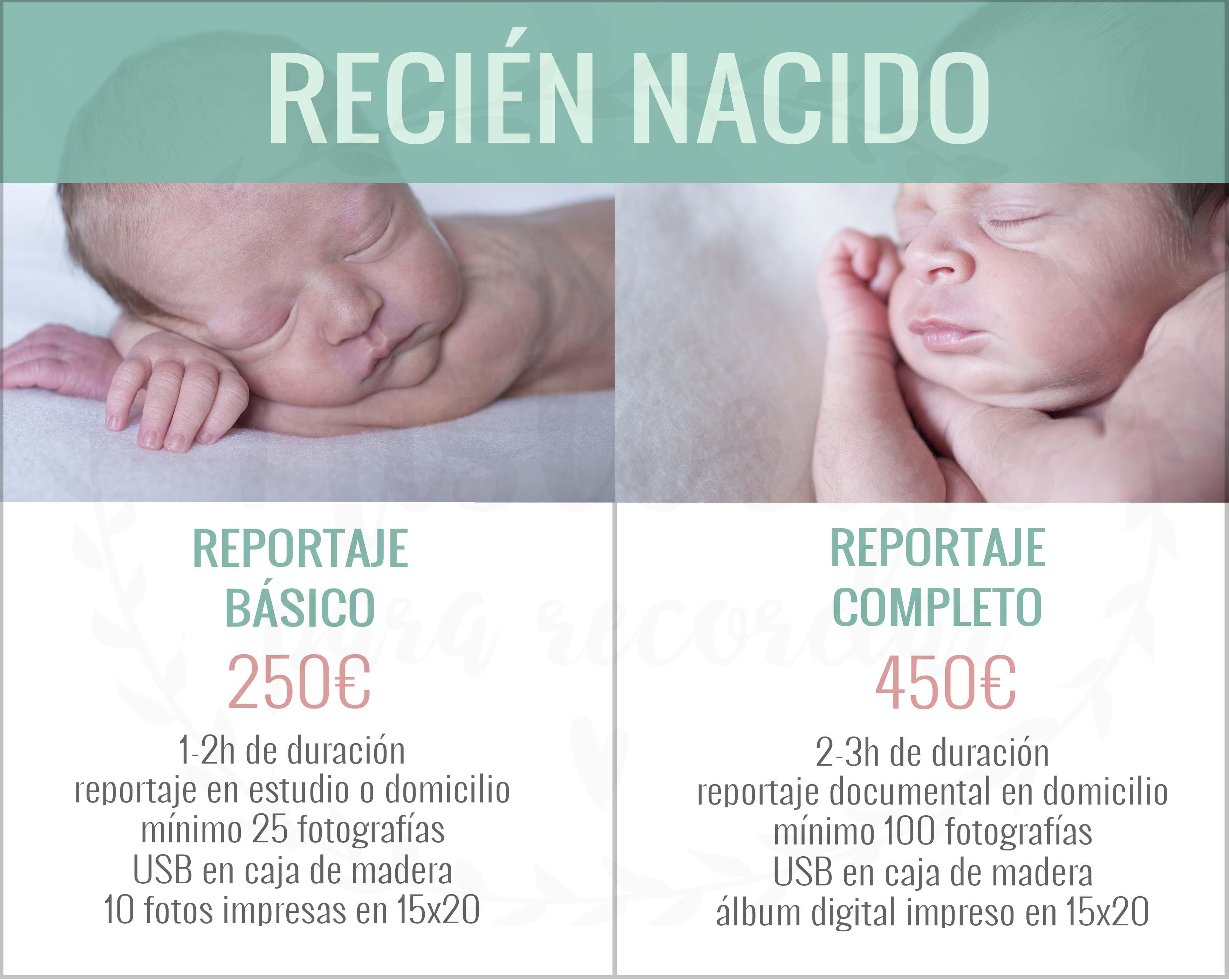 Precios sesión de fotos recién nacido en León